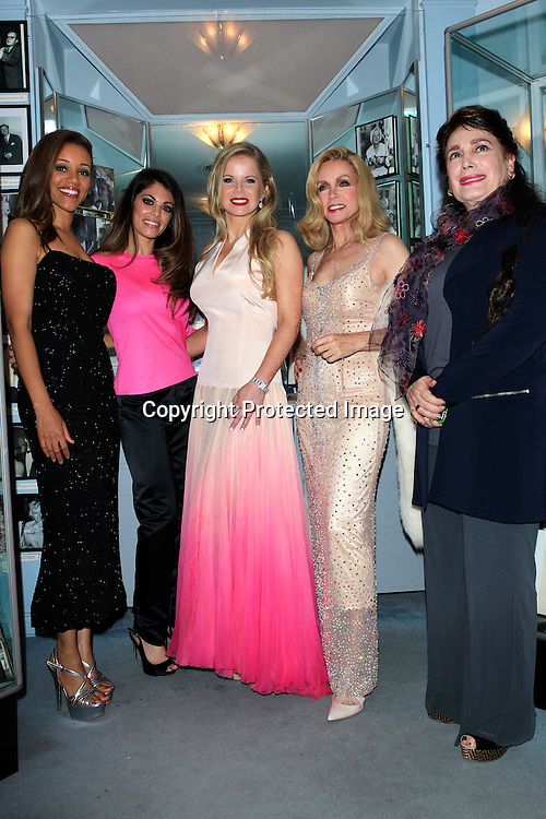 LOS ANGELES - MAY 27: Chrystee Pharris, Lindsay Hartley, Crystal Hunt, Donna Mills, Donelle Dadigan at the Marilyn Monroe Missing Moments preview at the Hollywood Museum on May 27, 2015 in Los Angeles, California