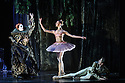 """London, UK. 23.03.2016. English National Ballet presents """"My First Ballet: Sleeping Beauty"""" at the Peacock Theatre. The production is created by ENB's Associate Artist, George Williamson (Concept, Direction and Choreography, after Marius Petipa), and co-authored by Saskia Portway, who also narrates. Picture shows: Alex Hallas (Carabosse), Madison Whitley (Lilac Fairy), Jan Spunda (Prince Desire). Photograph © Jane Hobson."""
