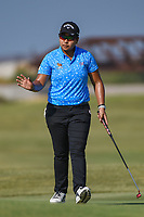 Pavarisa Yoktuan (THA) sinks her putt on 2 during the round 3 of the Volunteers of America Texas Classic, the Old American Golf Club, The Colony, Texas, USA. 10/5/2019.<br /> Picture: Golffile   Ken Murray<br /> <br /> <br /> All photo usage must carry mandatory copyright credit (© Golffile   Ken Murray)