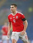 Sam Vokes of Wales during the international friendly match at the Cardiff City Stadium. Photo credit should read: Philip Oldham/Sportimage