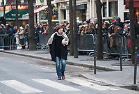 January 12 2018, Paris, France - Funerals of Singer France Gall in Montmartre Cemetery in Paris. Singer Jane Birkin is present. # OBSEQUES DE FRANCE GALL AU CIMETIERE DE MONTMARTRE