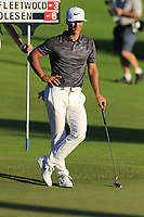 Thorbjorn Olesen (DEN) at the 18th green during Thursday's Round 1 of the 2018 Turkish Airlines Open hosted by Regnum Carya Golf &amp; Spa Resort, Antalya, Turkey. 1st November 2018.<br /> Picture: Eoin Clarke | Golffile<br /> <br /> <br /> All photos usage must carry mandatory copyright credit (&copy; Golffile | Eoin Clarke)