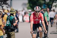 Tiesj Benoot (BEL/Lotto-Soudal) on his way to sign-on<br /> <br /> Stage 4: La Baule &gt; Sarzeau (192km)<br /> <br /> 105th Tour de France 2018<br /> &copy;kramon