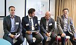 ZANDVOORT - GOLF -Thomas Hoffman Jepsen, David Gomez Aguera , Allesandro De Luca en Martin Bocksch. DTRF (Dutch Turfgrass Research Foundation)  congres. COPYRIGHT KOEN SUYK