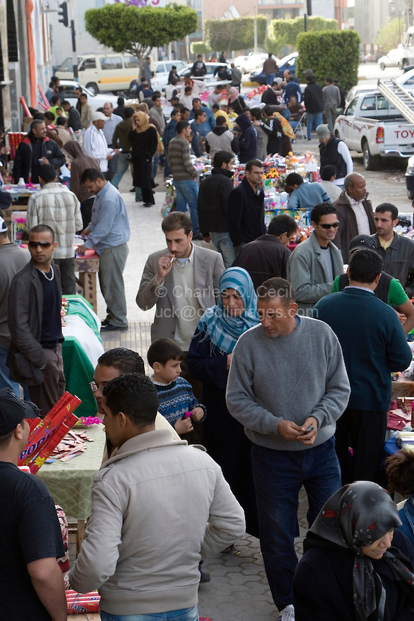 Tripoli, Libya - Holiday Shoppers in Market, Muhammad's Birthday