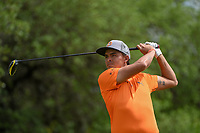 Rickie Fowler (USA) watches his tee shot on 9 during day 4 of the Valero Texas Open, at the TPC San Antonio Oaks Course, San Antonio, Texas, USA. 4/7/2019.<br /> Picture: Golffile | Ken Murray<br /> <br /> <br /> All photo usage must carry mandatory copyright credit (© Golffile | Ken Murray)