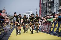 Team Direct Energie rolling through.. <br /> <br /> 103rd Ronde van Vlaanderen 2019<br /> One day race from Antwerp to Oudenaarde (BEL/270km)<br /> <br /> ©kramon