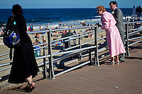 People enjoy a day around beach in Long Branch in New Jersey.  Photo by Eduardo Munoz Alvarez / VIEW.