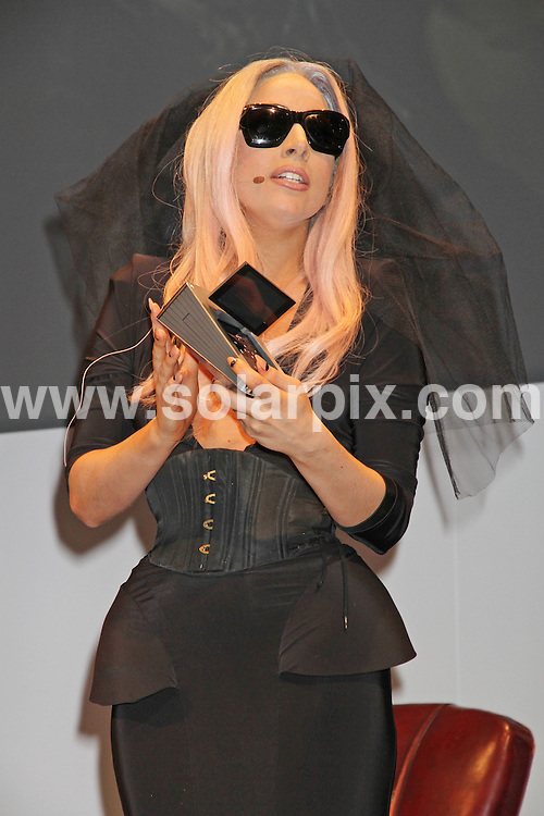 **ALL ROUND PICTURES FROM SOLARPIX.COM**                                             **SYNDICATION RIGHTS FOR UK, AUSTRALIA, DENMARK, PORTUGAL, S. AFRICA, SPAIN & DUBAI (U.A.E) & ASIA (EXCLUDING JAPAN) ONLY**                                                                                  Caption:  Lady Gaga at the Day 1 of the 2011 International Consumer Electronics Show where Lady Gaga Unveils Polaroid's Grey Label Product Line. Held at the Las Vegas Convention Center, Las Vegas, USA. 6 January 2011                                                                          This pic: Lady Gaga                                                                                             JOB REF: 12636 PHZ Prn     DATE: 06_01_2011                                                           **MUST CREDIT SOLARPIX.COM OR DOUBLE FEE WILL BE CHARGED**                                                                      **MUST AGREE FEE BEFORE ONLINE USAGE**                               **CALL US ON: +34 952 811 768 or LOW RATE FROM UK 0844 617 7637**