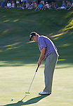 August 5, 2012: J.J. Henry sinks the putt on the 18th green to win the 2012 Reno-Tahoe Open Golf Tournament at Montreux Golf & Country Club in Reno, Nevada.