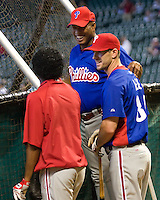 Martinez, Lee, Thompson _6396.jpg Philadelphia Phillies at Houston Astros. Major League Baseball. September 7th, 2009 at Minute Maid Park in Houston, Texas. Photo by Andrew Woolley.