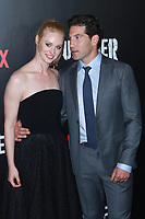 NEW YORK, NY - NOVEMBER 06: Deborah Ann Woll and Jon Bernthal at  'Marvel's The Punisher' New York premiere at AMC Loews 34th Street 14 theater on November 6, 2017 in New York City. Credit: Diego Corredor/MediaPunch /NortePhoto.com