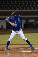 AZL Cubs 1 left fielder Jamie Galazin (29) at bat during an Arizona League game against the AZL Reds at Sloan Park on July 13, 2018 in Mesa, Arizona. The AZL Cubs 1 defeated the AZL Reds 4-1. (Zachary Lucy/Four Seam Images)