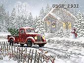 Dona Gelsinger, CHRISTMAS SYMBOLS, WEIHNACHTEN SYMBOLE, NAVIDAD SÍMBOLOS, paintings+++++,USGE1931,#xx# ,oldtimer,vintage car