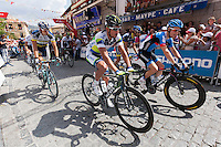 Departure  of the last step of the Vuelta de EspaÒa 2012 at Cercedilla