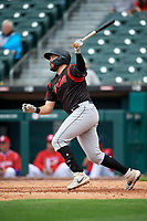 Indianapolis Indians Will Craig (25) at bat during an International League game against the Buffalo Bisons on June 20, 2019 at Sahlen Field in Buffalo, New York.  Buffalo defeated Indianapolis 11-8  (Mike Janes/Four Seam Images)