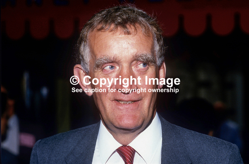 John Maxton, MP, Labour Party, Glasgow Cathcart, Scotland, UK, 19860930JM<br /> <br /> Copyright Image from Victor Patterson, 54 Dorchester Park, <br /> Belfast, UK, BT9 6RJ<br /> <br /> t1: +44 28 9066 1296 (from Rep of Ireland 048 9066 1296)<br /> t2: +44 28 9002 2446 (from Rep of Ireland 048 9002 2446)<br /> m: +44 7802 353836<br /> <br /> e: victorpatterson@me.com<br /> www.victorpatterson.com<br /> <br /> Please see my Terms and Conditions of Use at www.victorpatterson.com. It is IMPORTANT that you familiarise yourself with them.<br /> <br /> Images used on the Internet must be visibly watermarked i.e. &copy; Victor Patterson<br /> within the body of the image and copyright metadata must not be deleted. Images <br /> used on the Internet have a size restriction of 4kbs and will be chargeable at current<br />  NUJ rates unless agreed otherwise.<br /> <br /> This image is only available for the use of the download recipient i.e. television station, newspaper, magazine, book publisher, etc, and must not be passed on to any third <br /> party. It is also downloaded on condition that each and every usage is notified within 7 days to victorpatterson@me.com<br /> <br /> The right of Victor Patterson to be identified as the author is asserted in accordance with The Copyright Designs And Patents Act (1988). All moral rights are asserted.