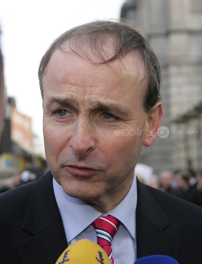 09/03/2011.Fianna Fail leader Michael Martin TD.during the 1st day of the 31st Dail.at Leinster House,  Dublin..Photo: Gareth Chaney Collins