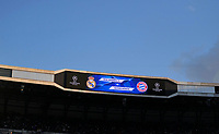 01.05.2018, Football UEFA Champions League 2017/2018, semi final  Rueckspiel, Real Madrid - FC Bayern Muenchen, Bernabeu-stadium Madrid. score board, Anzeigetafel  *** Local Caption *** © pixathlon<br /> <br /> Contact: +49-40-22 63 02 60 , info@pixathlon.de