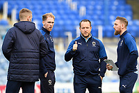 AFC Wimbledon players and staff inspect the pitch during Portsmouth vs AFC Wimbledon, Sky Bet EFL League 1 Football at Fratton Park on 11th January 2020