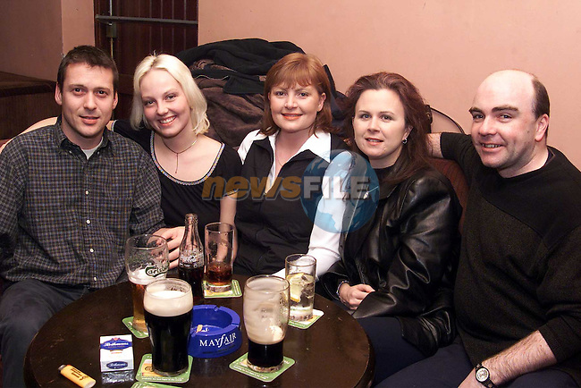 David Kearns, Mette Orum, Claire Connelly, Elaine Edwards and Gary Browne enjoying a night out in McHugh's..Picture: Paul Mohan/Newsfile