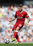 Liverpool's Alberto Moreno in action during the premier league match at the Etihad Stadium, Manchester. Picture date 9th September 2017. Picture credit should read: David Klein/Sportimage