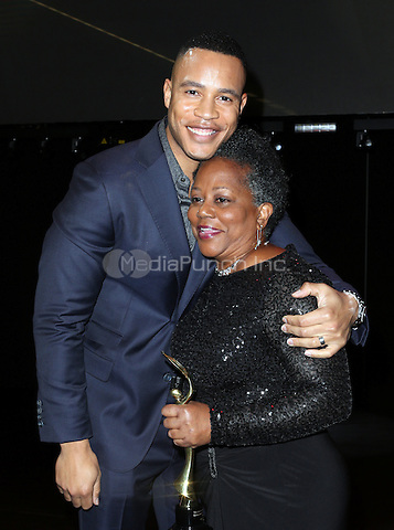 Hollywood, CA - February 19: Trai Byers, Beverly Jo Pryor, At 3rd Annual Hollywood Beauty Awards_Show, At Avalon Hollywood In California on February 19, 2017. Credit: Faye Sadou/MediaPunch