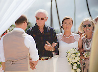 Jared shakes hands with Eric Griffiths, as Allison stands between her father and mother, Kim