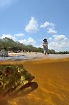 fly fishing in Agua Boa, Brazil
