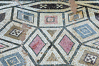 CYPRUS, near Limassol (Lemesos), Kourion: archaelogical excavation - mosaic<br />