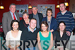 Diamond Ring: Eoin Regan, Causeway and Helen O'Keeffe, Forge Cross, Tralee (seated centre) celebrated their engagement in Kirby's Brogue, Tralee last Saturday night, with family also seated is Doreen Nolan (lt) and Ciara Flanagan (rt). Standing l-r: John and Claire O'Regan, John and Mary O'Keeffe with Damien Flanagan.