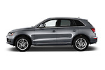 Car driver side profile view of a 2013-2014 Audi Q5 Base 5 Door SUV