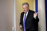 Mark Meadows, Assistant to the President and Chief of Staff gestures during a press briefing at the White House in Washington on July 31, 2020. <br /> Credit: Yuri Gripas / Pool via CNP /MediaPunch