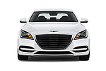 Car photography straight front view of a 2019 Genesis G80 RWD 4 Door Sedan