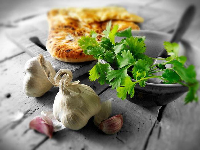 Corriander and Garlic Indian Naan bread