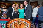Mareme and Nicola Meziami, , Kaylee Birdski,  Fergal Murphy.enjoying the Tralee Rowing Club Viva Las Vegas Casino Night fundraiser at Benners Hotel