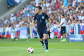 June 19th 2017, Kielce, Poland; UEFA European U-21 football championships, England versus Slovakia; Ben Chilwell (ENG) breaks forward with the ball