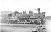 Side view of K-28 #470.<br /> D&amp;RGW