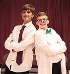 Nick Gundrum and Anthony Frederickson during the Children's Theatre of Cincinnati presentation for composer Charles Strouse of 'Superman The Musical' at Ripley Grier Studios on June 8, 2018 in New York City.