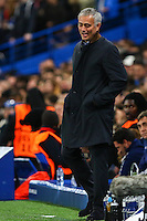 Jose Mourinho (Manager) of Chelsea looks on with a smile during the UEFA Champions League match between Chelsea and Maccabi Tel Aviv at Stamford Bridge, London, England on 16 September 2015. Photo by David Horn.
