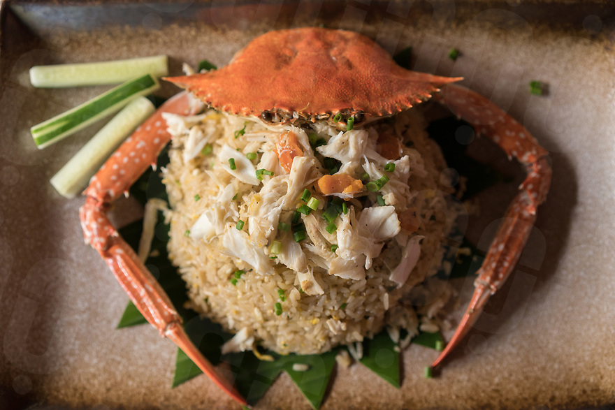 May 27, 2017 - Phnom Penh (Cambodia). Fried rice with crab is served at Malis restaurant in Phnom Penh. © Thomas Cristofoletti / Ruom