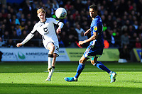 George Byers of Swansea City in action during the Sky Bet Championship match between Swansea City and Cardiff City at the Liberty Stadium in Swansea, Wales, UK. Sunday 27 October 2019