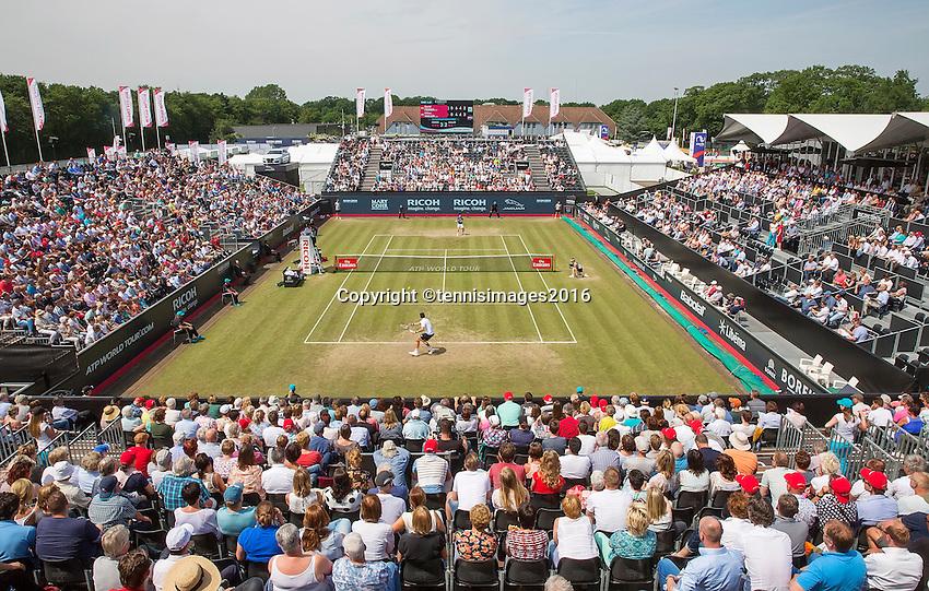 Den Bosch, Netherlands, 10 June, 2016, Tennis, Ricoh Open, Overall view Centercourt<br /> Photo: Henk Koster/tennisimages.com