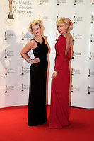 12/2/11 RTE's Sinead Kennedy and Emma O'Driscoll on the red carpet at the 8th Irish Film and Television Awards at the Convention centre in Dublin. Picture:Arthur Carron/Collins