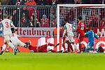 13.03.2019, Allianz Arena, Muenchen, GER, UEFA CL, FC Bayern Muenchen (GER) vs FC Liverpool (GBR) ,Achtelfinale, UEFA regulations prohibit any use of photographs as image sequences and/or quasi-video, im Bild Tor zum 2-1 durch Virgil van Dijk (Liverpool #4) mit Manuel Neuer (FCB #1) Serge Gnabry (FCB #22) Georginio Wijnaldum (Liverpool #5) <br /> <br /> Foto © nordphoto / Straubmeier