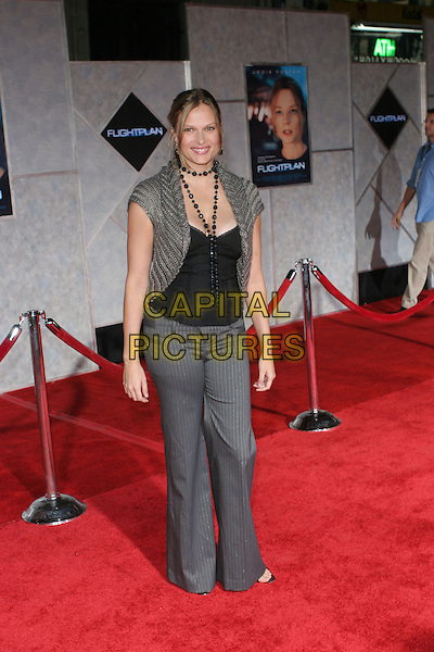 "VINESSA SHAW.Arrivals for the premiere of ""Flight Plan"" at El Capitan Theatre, Hollywood,.Los Angeles, 20th September 2005.full length grey gray cardigan shawl black beads top trousers.Ref: ADM/ZL.www.capitalpictures.com.sales@capitalpictures.com.© Capital Pictures."