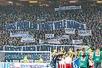 08.09.2017, Volksparkstadion, Hamburg, GER, 1.FBL, Hamburger SV vs RB Leipzig<br /> <br /> im Bild<br /> Banner, Plakate auf Tribuene, Fanprotest zu 50+1 Regel, &quot;Das Problem tr&auml;gt viele Namen&quot;, &quot;Tipico&quot;, &quot;K&uuml;hne&quot;, &quot;DFL&quot;, &quot;Mateschitz&quot;, &quot;St. Pauli&quot;, &quot;Hopp&quot;, &quot;Ismaik&quot;; &quot;sky&quot;, &quot;Helene Fischer&quot;, <br /> <br /> Foto &copy; nordphoto / Ewert