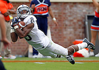 Penn State wide receiver Allen Robinson (8) makes a touchdown catch during the second half of an NCAA football game against Virginia Saturday Sept. 8, 2012 in Charlottesville, VA. Virginia defeated Penn State 17-16. Photo/Andrew Shurtleff)