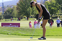 Lexi Thompson (USA) putts on the 6th green during Thursday's Round 1 of The Evian Championship 2018, held at the Evian Resort Golf Club, Evian-les-Bains, France. 13th September 2018.<br /> Picture: Eoin Clarke | Golffile<br /> <br /> <br /> All photos usage must carry mandatory copyright credit (© Golffile | Eoin Clarke)