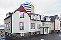 The French Hospital, Lindargata 51, Reykjavik, Iceland. Built in 1902 by the French, to serve French mariners fishing for cod off the coast of Iceland. Designed by Danish architect, Bald.